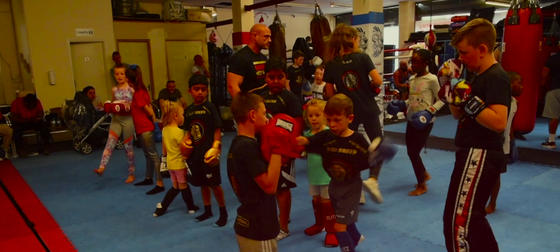 anti bullying kids boxing at unique fitness gym