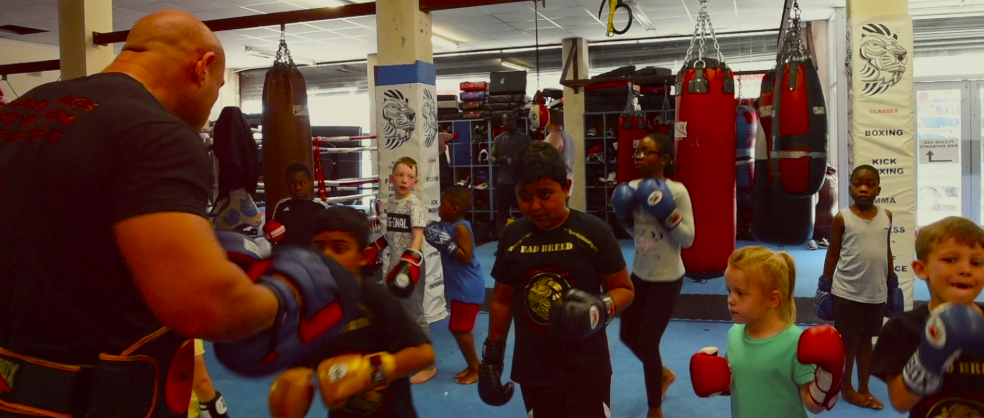 social development kids boxing at unique fitness